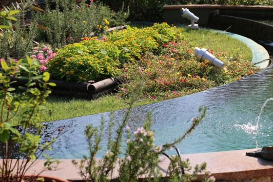 プロトリーフ ガーデンアイランド玉川店屋上庭園の噴水