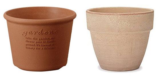 鉢栽培に必要な植木鉢いろいろ