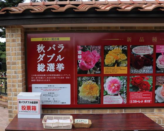秋の京成バラ園の入口