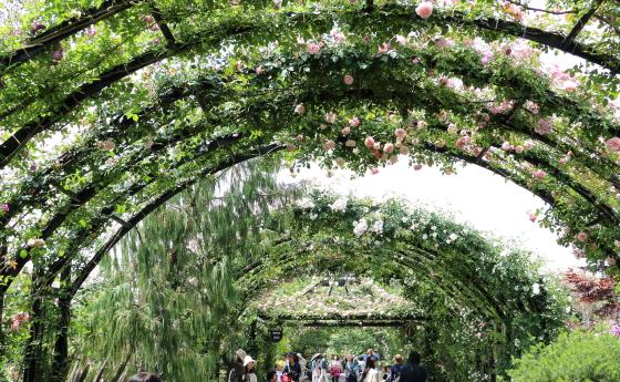 春の横浜イングリッシュガーデンの風景