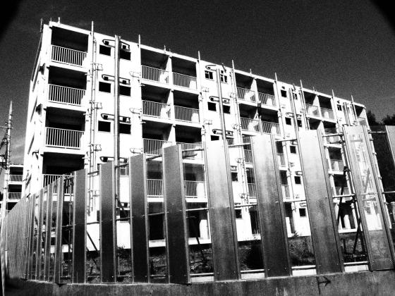 世田谷区の公団住宅がとり壊されていた