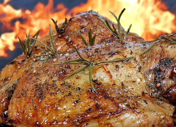 ローズマリーは肉料理に合う
