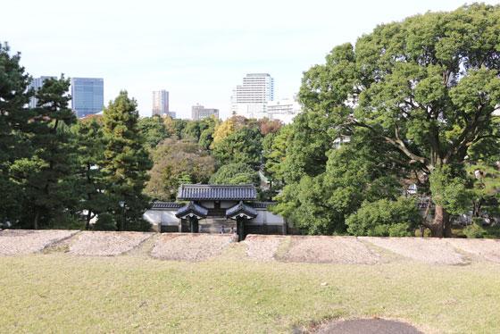 皇居 本丸近くからの風景