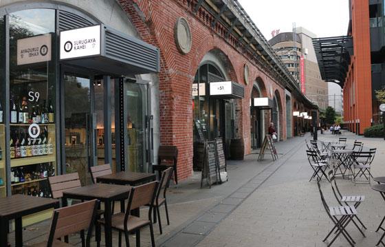 万世橋の飲食店街