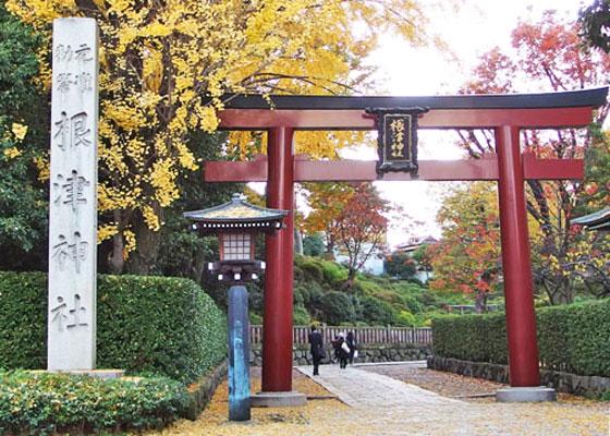 根津神社は文京区にあります