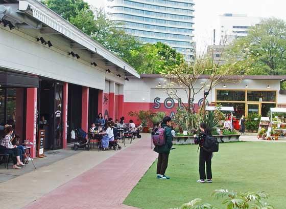 園内のレストランはオープンスタイルです