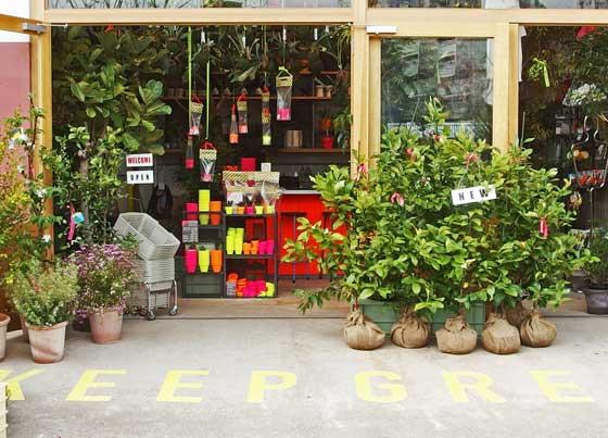 園芸店の入り口風景